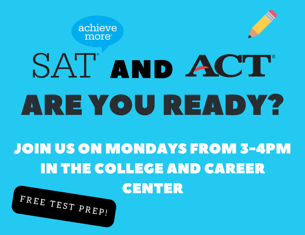 flyer for SAT ACT prep class