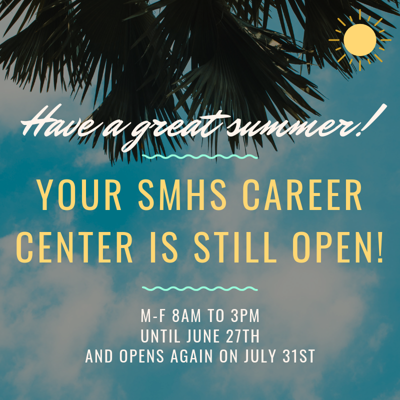 The Career Center is Open this summer