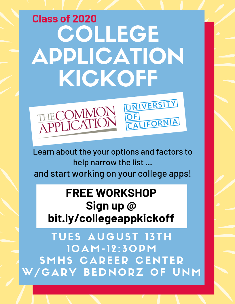 Sign up for College Application Kickoff