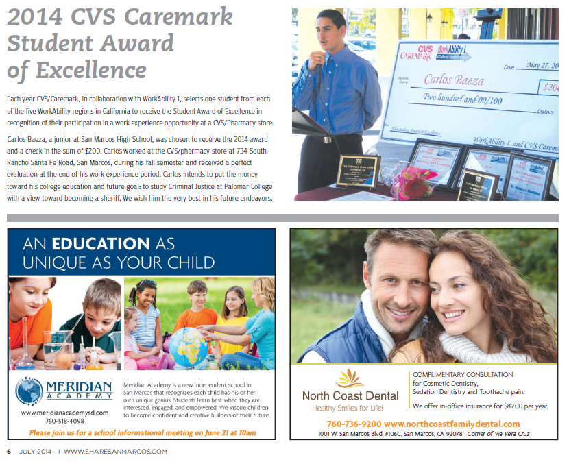 2014 CVS Student of Excellence Award
