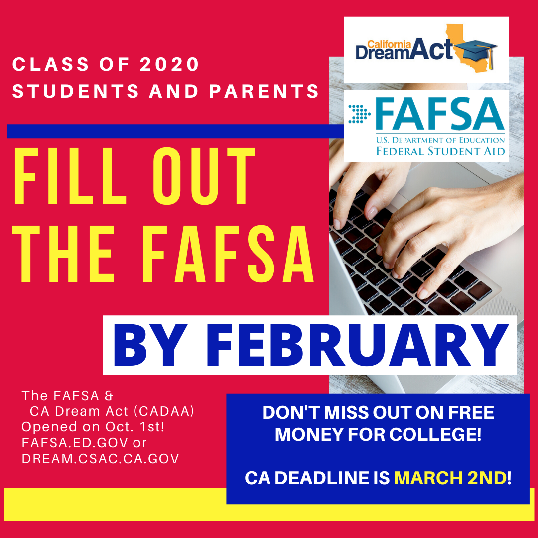 Fill out your FAFSA by February