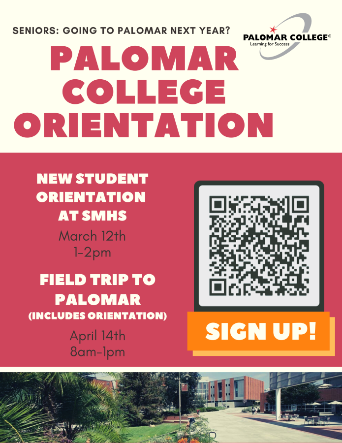 Sign up for Palomar Orientation and Field Trip